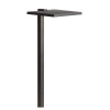 LED Shallow Shade - Large Path Light - Textured Black