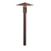 LED Forged Path Light - Textured Architectural Bronze